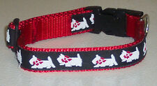 WESTIE COLLAR RED TRADITIONAL FREE SHIP USA