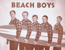 "The Beach Boys Poster Print - 1960s - Surfboard Group Shot - 11""x14"" Sepia"