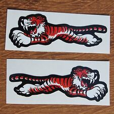 Two Motorcycle Biker Helmet Cafe Racer Triumph Ton Up Boys Stickers Flying Tiger