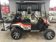 EZGO 13.5 HP Gas lifted CUSTOM Harley Davidson 4 passenger golf cart  -SSCARTS-
