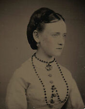 OLD VINTAGE ANTIQUE TINTYPE PHOTO of INCREDIBLY BEAUTIFUL PRETTY YOUNG TEEN GIRL