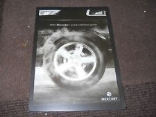 2004 MERCURY MARAUDER OWNERS MANUAL QUICK REFERENCE GUIDE SUPPLEMENT BOOKLET NEW
