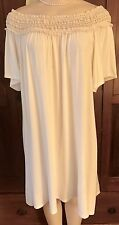 WOMENS PLUS DRESS 3X IVORY TUNIC NEW 22 24 XXXL LACE OFF SHOULDER NWT SPRING