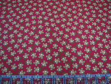 3 Yards Cotton Flannel Fabric- Timeless Treasures Christmas Gingerbread Toss Red
