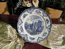 edler Platzteller Platte  Johnson Bros Old Britain Castles blau
