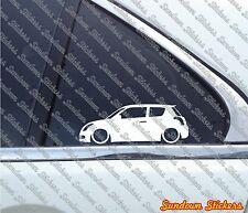 2X Low Suzuki Swift Sport  (2004–2010) Lowered car outline STICKERS S465