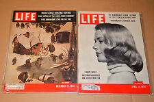 2 life magazine lot 24  December 27 1954  April 26 1954 Grace Kelly eastman koda