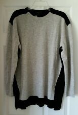 J. Crew Colorblock sweater-tunic #B6522 Shirt Black Grey $98 XL XLarge Sold Out