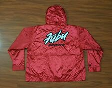 Vintage FUBU SPORTS Hooded Windbreaker Jacket men's L SPELL OUT 90s Rare Hip Hop
