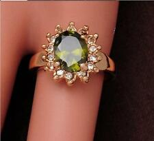 Stunning cool 18k gold filled stylish lady remarkable zircon cut ring SIZE 7