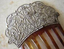 ANTIQUE EARLY VICTORIAN HUGE CUT STEEL TIARA HAIR COMB 1850 fabulous condition