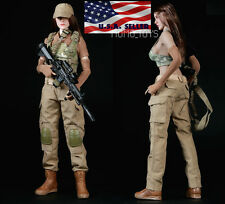 "1/6 Women Soldier Combat Clothing Set For 12"" Hot Toys Phicen Female Figure USA"