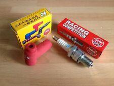 HONDA CR250 84-87 CR250 89-04 CR450 1981 CR500 90-01 NGK RACE SPARK PLUG & CAP