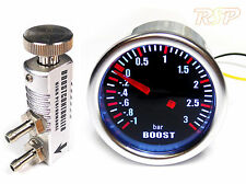 Universal 52mm ahumado Turbo Boost Gauge -1 a 3 Bar & Manual controlador de boost