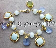 WOW~~ Aquamarine&Amazonite&Crystal Bracelet