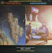 """THE RIGHT STUFF - NORTH AND SOUTH - BILL CONTI  12""""  LP  (Q225)"""