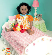 NEW McCalls Michelle Hains/Heirloom Sewing Pattern 6718 Bed Ensemble 18inch Doll