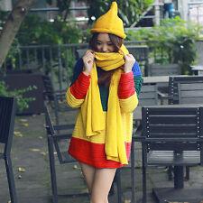 Damen Pullover Regenbogen Patchwork Locker Kasual Herbst Frühling Weihnachten