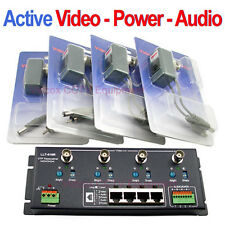 4Ch ACTIVE (Video Power Audio) Balun BNC to Cat5/6 UTP Cable for CCTV Camera DVR