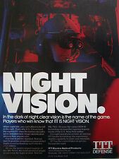 3/1990 PUB ITT DEFENSE ELECTRO OPTICAL NVG NIGHT VISION GOGGLE AN/AVS-6 AD
