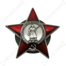 Soviet Union ORDER OF THE RED STAR Award Russian Army Military Combat Medal Pin
