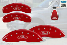 2012-2014 Ford F-150 Logo Red Brake Caliper Covers Front Rear INSTOCK + Keychain
