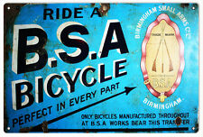 BSA Bicycle Nostalgic Sign