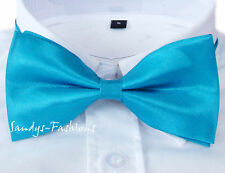 % New Premium Bow Tie Turquoise 10 *5,5cm Handmade Wedding Pageboy Communion S1