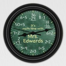 Math Equation Chalkboard Elementary Personalized Decorative Wall  - Teacher Gift