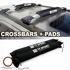 "40"" Roof Top Crossbar Rack Carrier + Protection Pad Cross Bars Universal Fit"