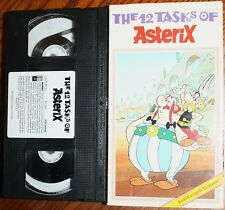 THE 12 TASKS OF ASTERIX (vhs) Cartoon. VG Cond. Rare. Full-Length Feature. NR
