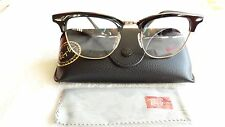 NEW Authentic RayBan Eyeglasses Clubmaster RB 5154 Black & Gold RX 51mm