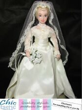 Princess Grace of Monaco porcelain Royal wedding doll Grace Kelly replica dress