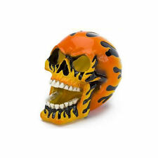 Penn Plax Orange Flaming Human Fire Skull Small Aquarium Ornament RR1451
