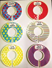 6 Baby Closet Dividers in Dr. Seuss Theme Organizers Shower Gift - handmade