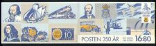Sweden 1986 Postal Transport/Courier/Horses/Aircraft/Bus/Trains 8v bklt (n30367)