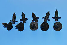 10 X VOLVO BLACK PLASTIC RIVET TYPE BODY TRIM PANEL FASTENER CLIPS