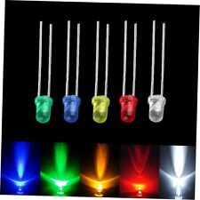 100pcs 3mm White Green Red Blue Yellow LED Light Bulb Emitting Diode Lamps GU
