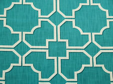 RICHLOOM WENTZ TEAL LINEN-LOOK COTTON UPHOLSTERY CURTAIN FABRIC BTY 119FS
