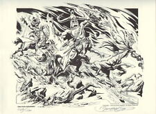 The FOUR HORSEMEN S / # Ltd Ed PRINT Nat'l Cartoonists Society Portfolio HOGARTH