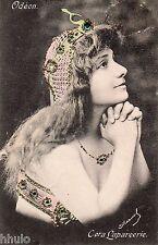 BD519 Carte Photo vintage card RPPC Femme woman Cora Laparcerie Fantaisie bijoux