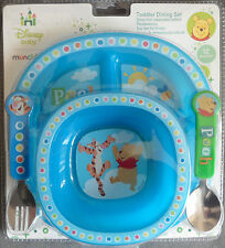 Official Disney Winnie the Pooh Tigger Dining Set Plate Bowl Fork Spoon Munchkin