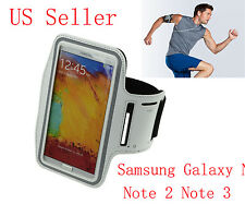 WHITE CUSTOM-MADE SPORTS ARMBAND CASE W/SHOCKSOCK LOGO FOR SAMSUNG GALAXY NOTE 3