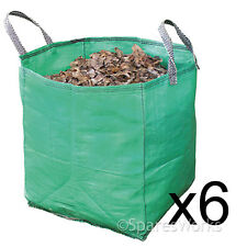 6 x Large Garden Waste Recycling Tip Bags Heavy Duty Non Tear Woven Plastic Sack