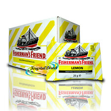 24x Fisherman's Friend Sugar Free Lemon Menthol Lozenges Sweeteners 25g