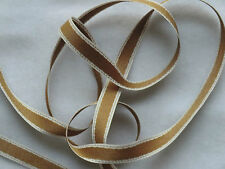 16mm x 1.5m RUSTIC EDGE SATIN STITCH RIBBON,RED,GREEN,BROWN,PINK,BLUE,GOLD,WHITE