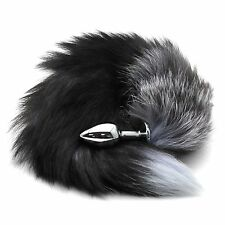 Fox fur Butt Toy Plug Stainless Steel Enchanting Fox Tail Insert Stopper