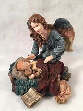 Angel Watching Over Sleeping Boy Figurine