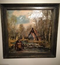 "Bigfoot Sasquatch Yeti Swamp KMart Re-purposed Thrift Store Painting 20""x20""OOAK"