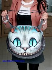 Women Clutch Fashion Cheshire cat Hobo Shoulder Messenger Bag Tote Handbag
